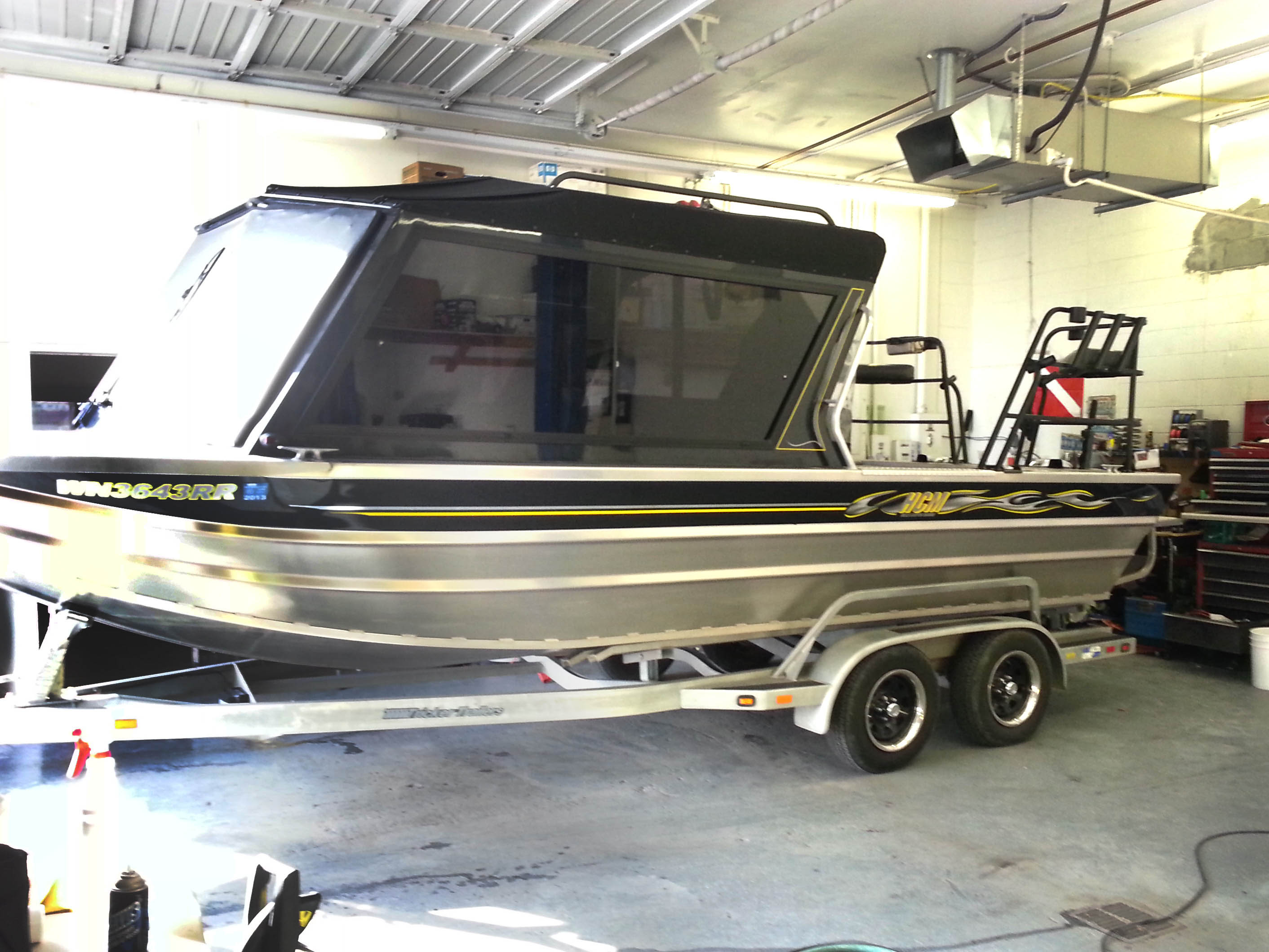 Fishing boat graphics for Wrap fishing system